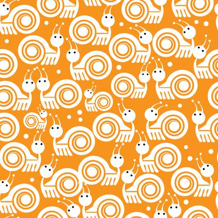 white snails icon seamless pattern