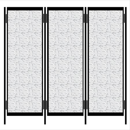 folding screens: folding screen isolated on white background