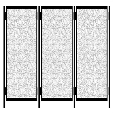 paravento isolato su sfondo bianco Vettoriali