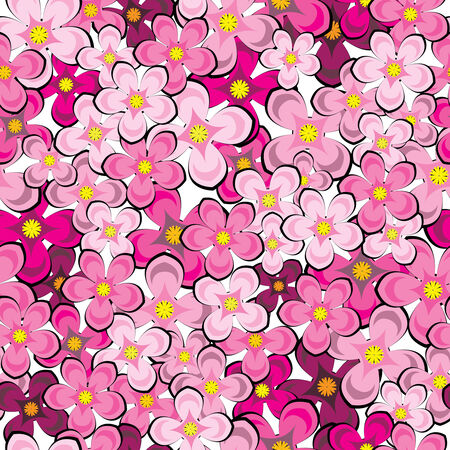 lilac flowers seamless pattern Stock Vector - 27292949
