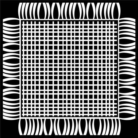 floor mat: floor mat isolated on black background