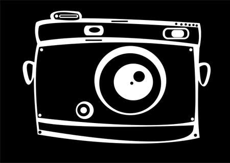 vintage film photo camera isolated on black background photo