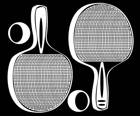 ping pong: ping pong tennis racket isolated on black background