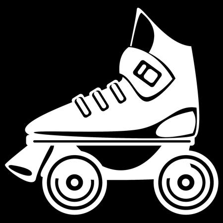 roller skate on black background photo