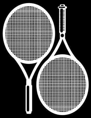 raquet: tennis racket isolated on black background