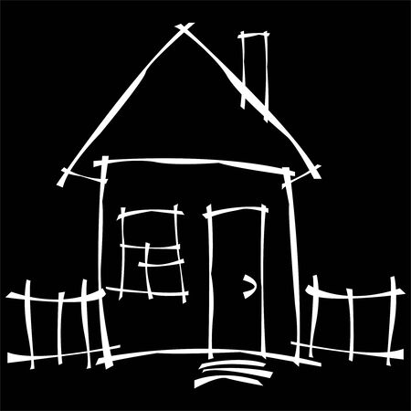 scetch:   scetch house
