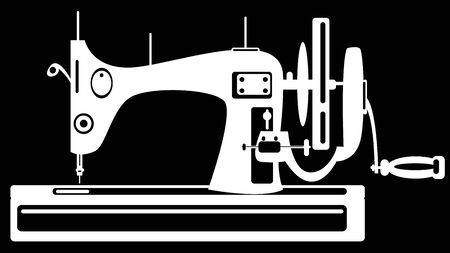 m�quina de coser sobre fondo negro photo