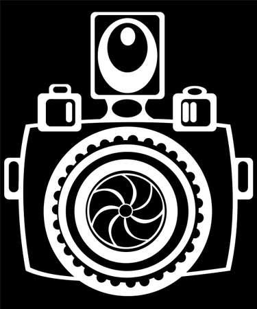 lomo: youth camera isolated on black background Stock Photo
