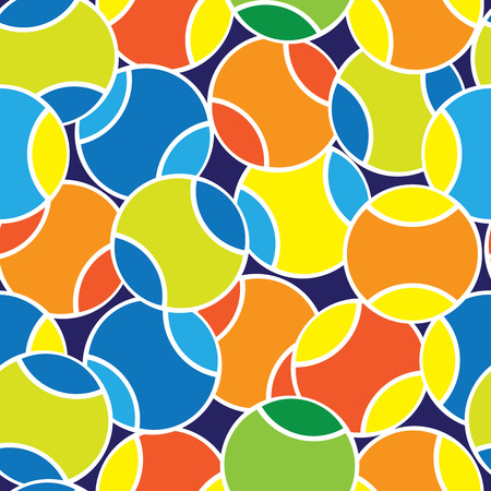 tennis balls seamless pattern
