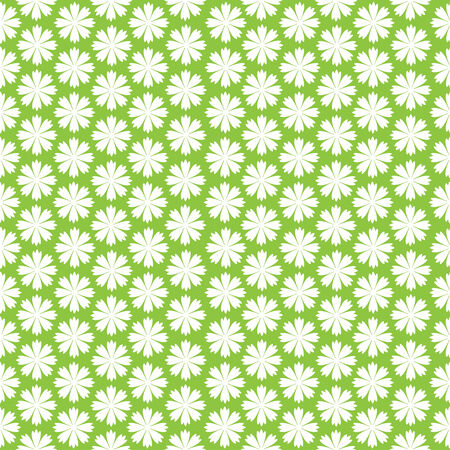 white carnation flowers seamless pattern Vector