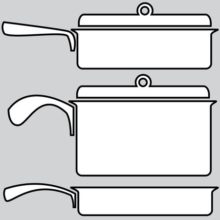 skillets icons on a gray background