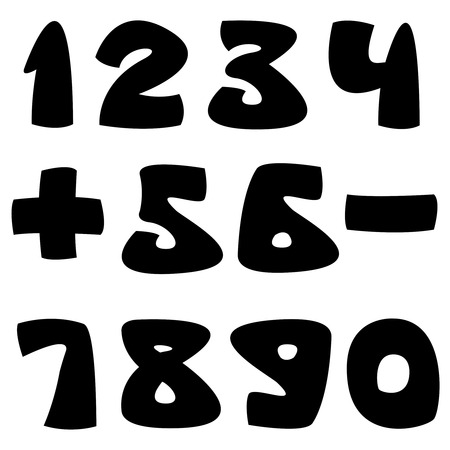 arabic numerals: arabic numerals isolated on white background