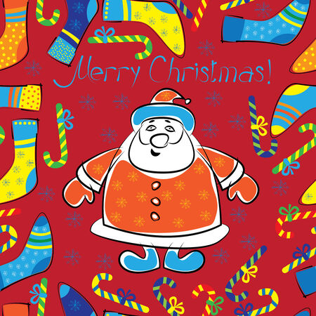 christmas with multicolor seamless pattern