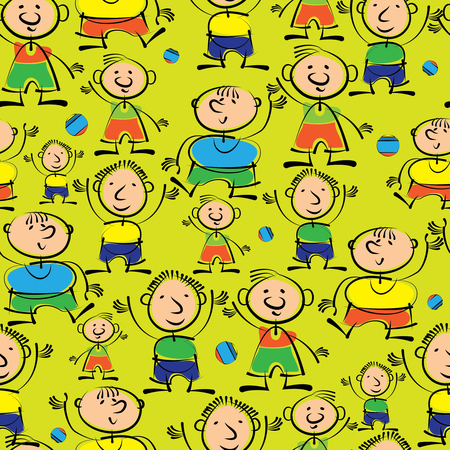 boys are different seamless pattern