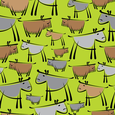 dogs are different seamless pattern Vector