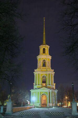 illuminated: Night Illuminated church Stock Photo