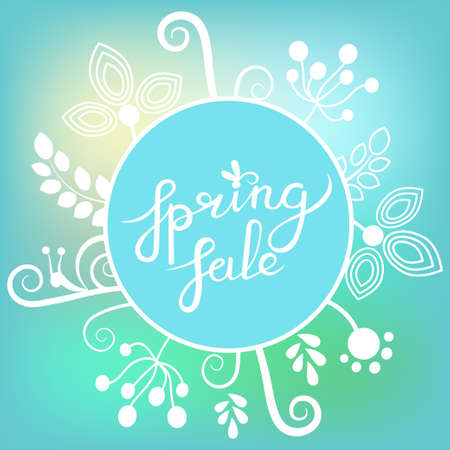 Great spring Sale Banner with floral elements. Vector Colorful Illustration. Vector eps 10
