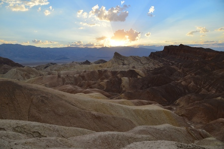 rupestrian: The sun breaks through the clouds over little scary Death Valley
