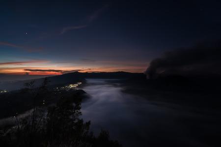 republik: The fog creeps over the water amongst the dense jungle (Bohorok, Indonesia) Stock Photo