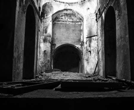 catacomb: Resolution in the premises of the fort Constantine Stock Photo