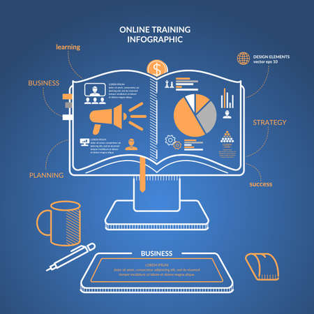 Online Training. Income And Success. Business Infographics. Icons ...