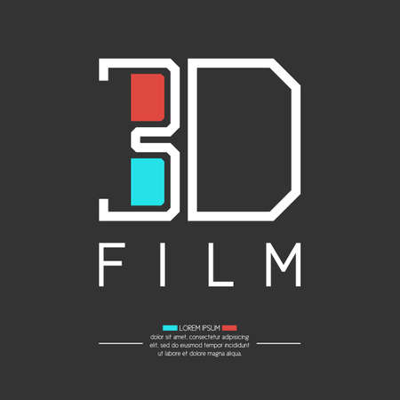 3d film: 3d film. Elements and icons for cards, illustration, poster and web design. Illustration
