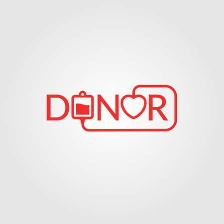 donor: Donor. Illustrations for design, website, infographic, poster, advertising.