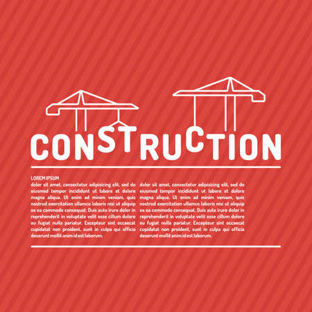 Construction. Elements for cards, illustration, poster and web design.