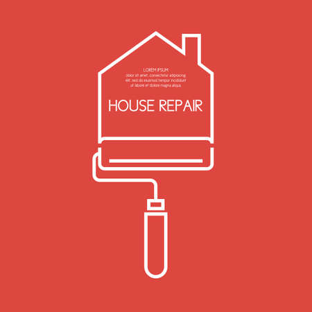 home improvements: House repair. Elements and icons for cards, illustration, poster and web design.