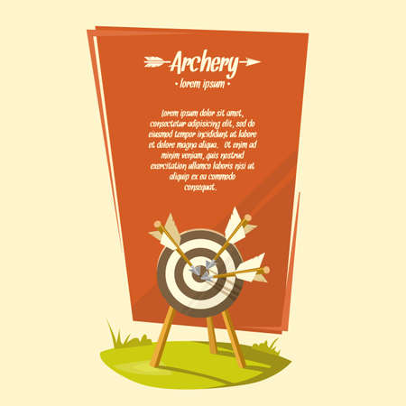 illustration for advertising: Archery. Background for text. Illustration for advertising, poster, ads. Illustration
