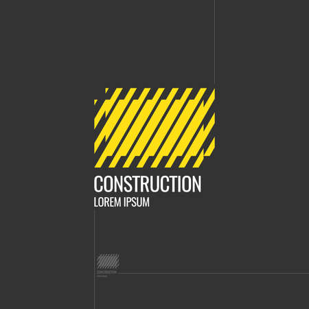 construction equipment:  Construction. Elements for cards, illustration, poster and web design. Vector. Illustration
