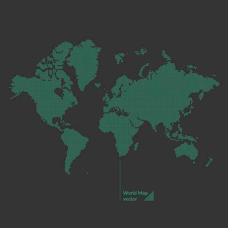 green world: Dotted world map. Vector illustration. Illustration