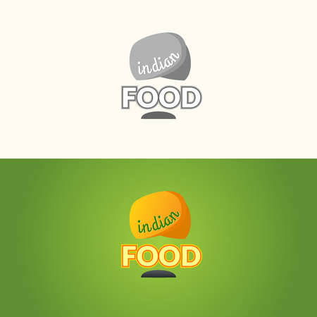 comida hindu: The  of Indian food. Indian food, the sign for the restaurant. Vector illustration.