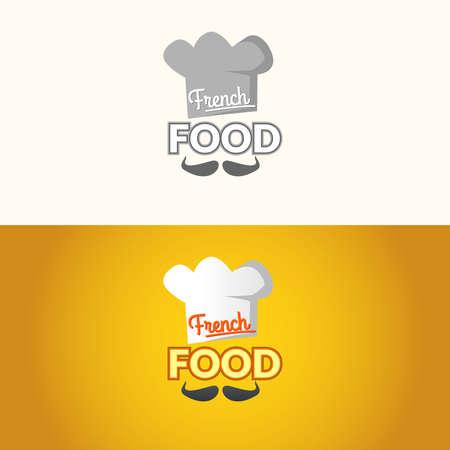 french food: The  of French food. French food, the sign for the restaurant. Vector illustration.