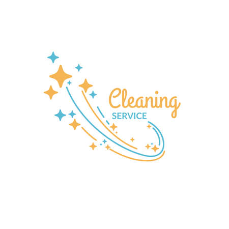 Cleaning service. The  of the company on cleaning of rooms. Vector illustration. Illustration