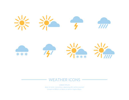 weather: weather icons