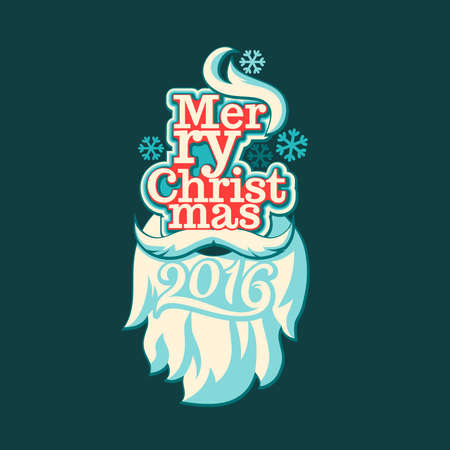 merry: 2016. Merry Christmas and Happy New Year. Vector illustration