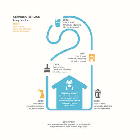 dirty carpet: Cleaning service infographic. Elements for design and web. Vector illustration.