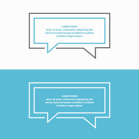 blank template: Quote blank template. Speech Bubbles. The dialog window. Vector illustration. Illustration