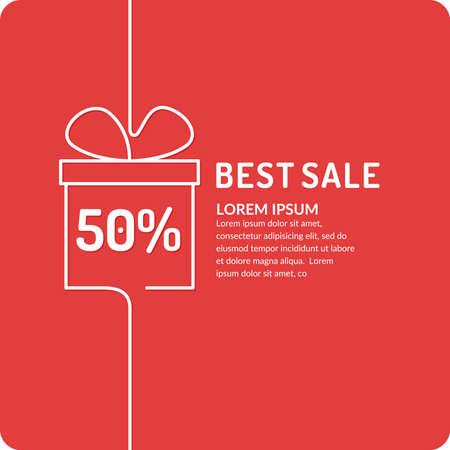 Original concept poster discount sale. Sale banner. Vector illustration Illustration