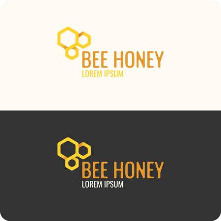colmena: Logotipo de abeja de la miel. logotipo moderno de gestión de productos de las abejas.