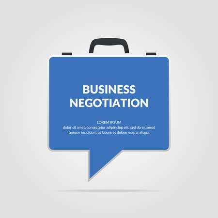 negotiations: Icon business negotiations. Original concept poster.