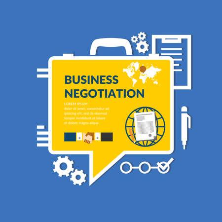 negotiations: Business negotiations. Original concept poster.