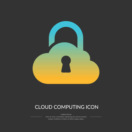 icloud: Cloud computing icon. Vector illustration of modern technologies.