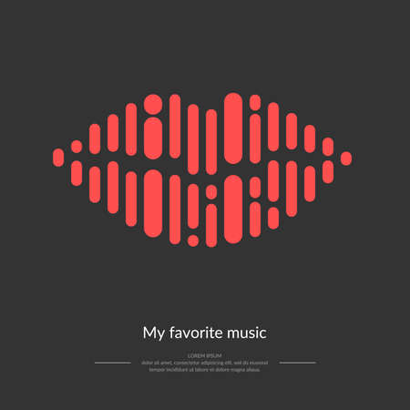 The image of the sound wave. Vector illustration. Icon. Sound. Track. Song. Music. Illustration