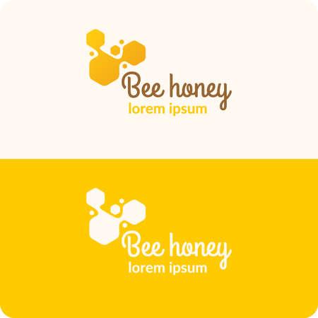 abejas panal: miel de abeja. Vectores