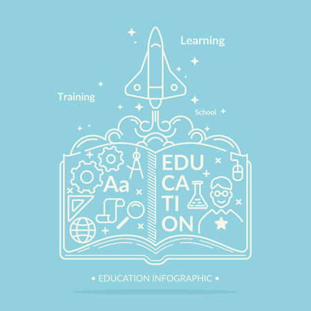 vocational: Education infographics. Vector modern illustration in flat style. Illustration
