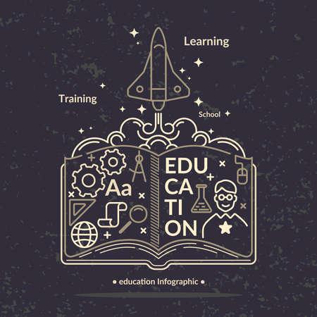 vocational training: Education infographics. Vector modern illustration in flat style. Illustration