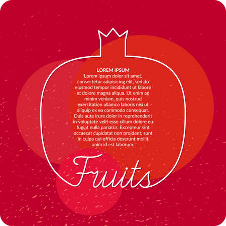range fruit: Organic food. Fresh fruits, background for menu or poster. Illustration