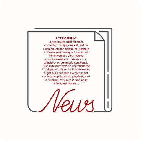 world news: World news. Conceptual background with lines for text and advertising. Vector illustration.